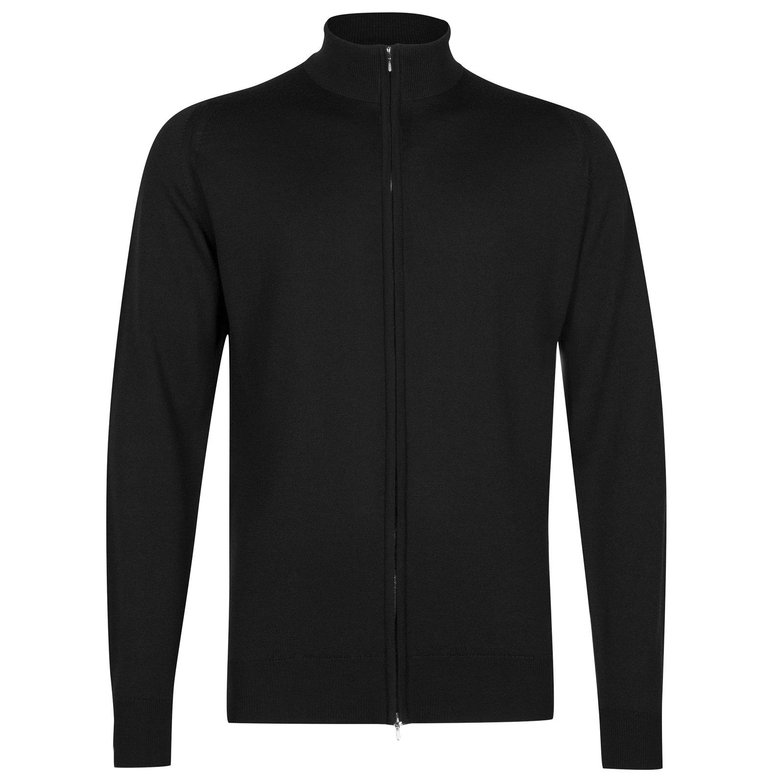 John Smedley claygate Merino Wool Jacket in Black-L