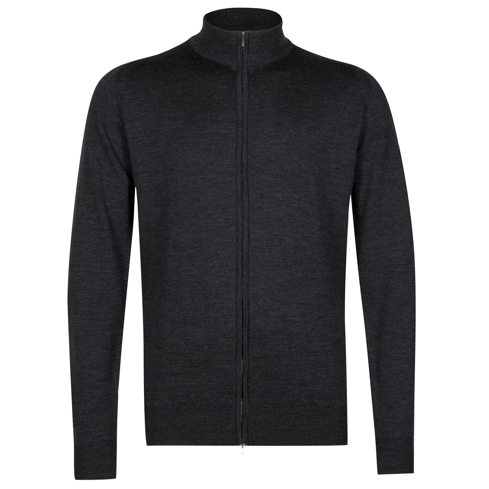 John Smedley claygate Merino Wool Jacket in Charcoal-XL