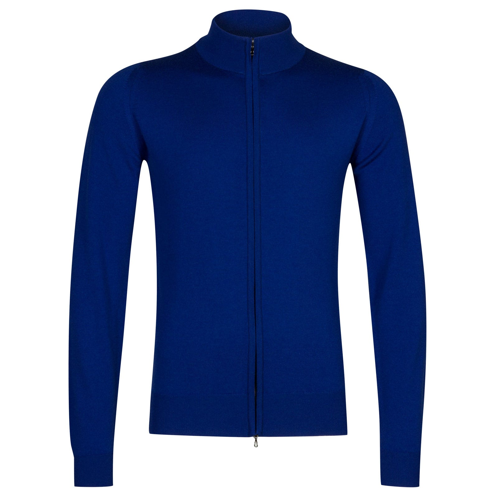 John Smedley claygate Merino Wool Jacket in Coniston Blue-L
