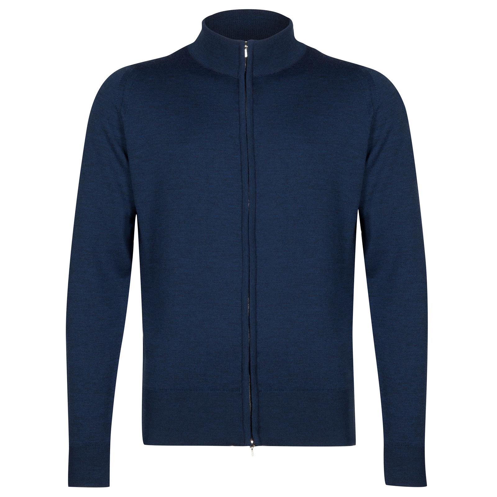 John Smedley claygate Merino Wool Jacket in Indigo-M