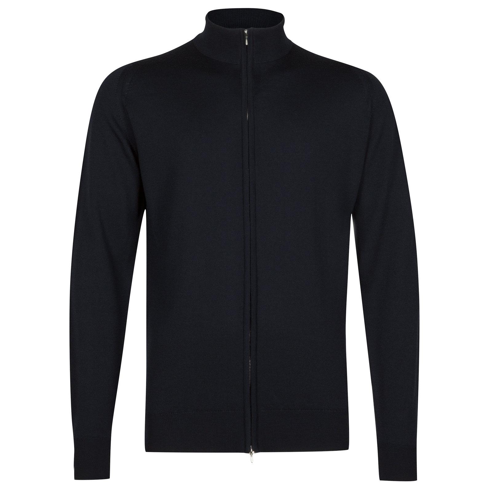 John Smedley claygate Merino Wool Jacket in Midnight-M