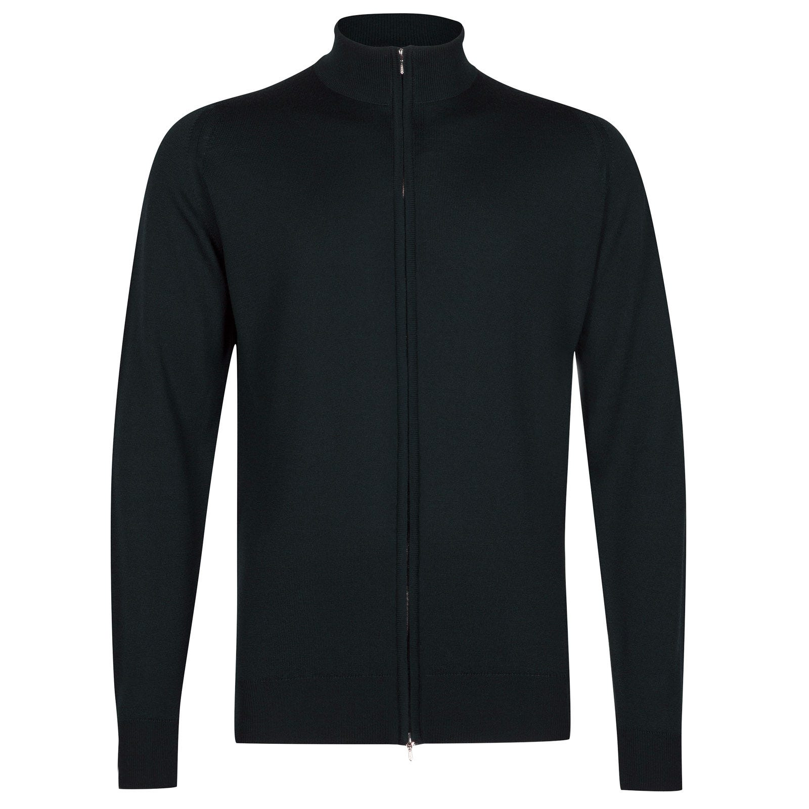 John Smedley claygate Merino Wool Jacket in Racing Green-M