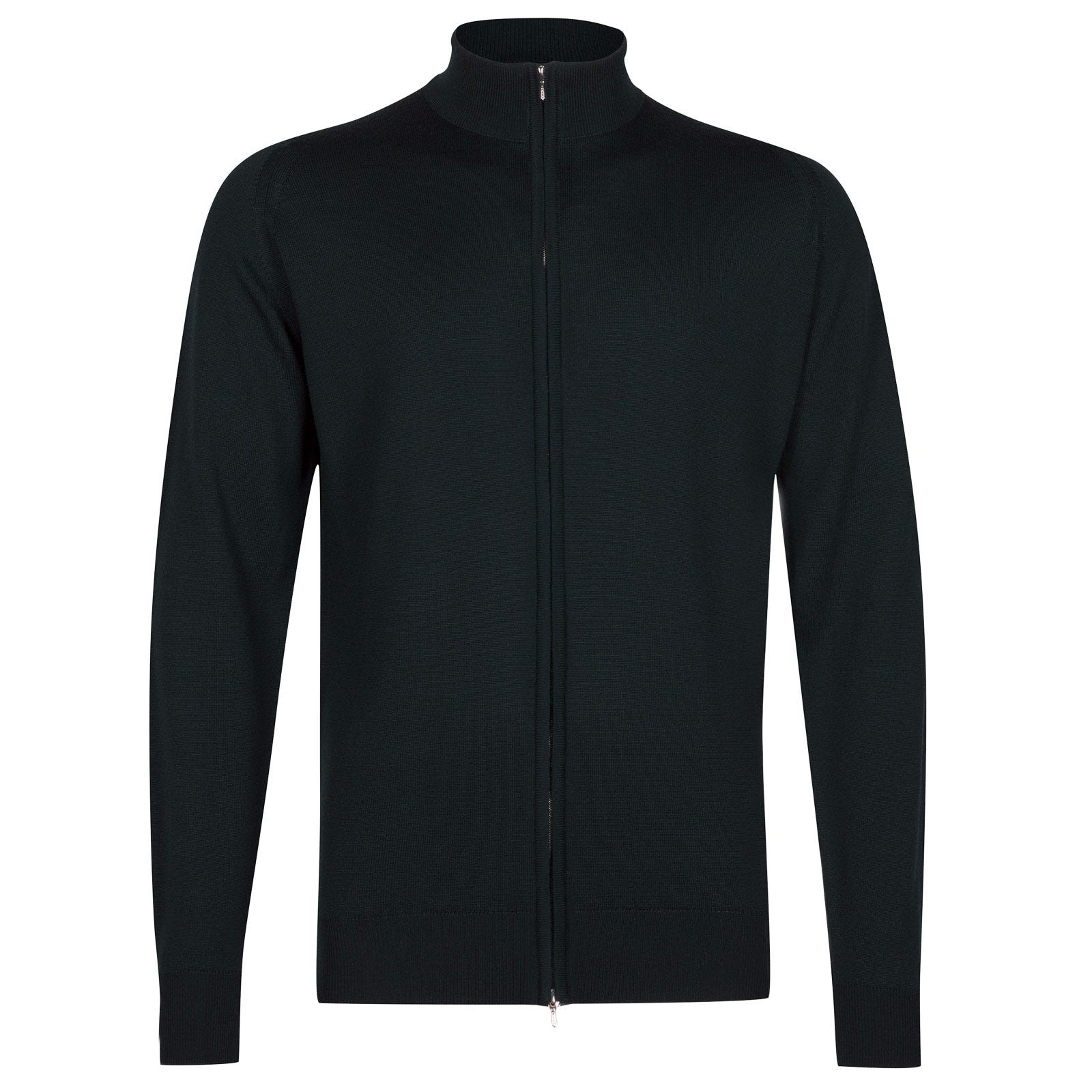 John Smedley Claygate Merino Wool Jacket in Racing Green-XXL