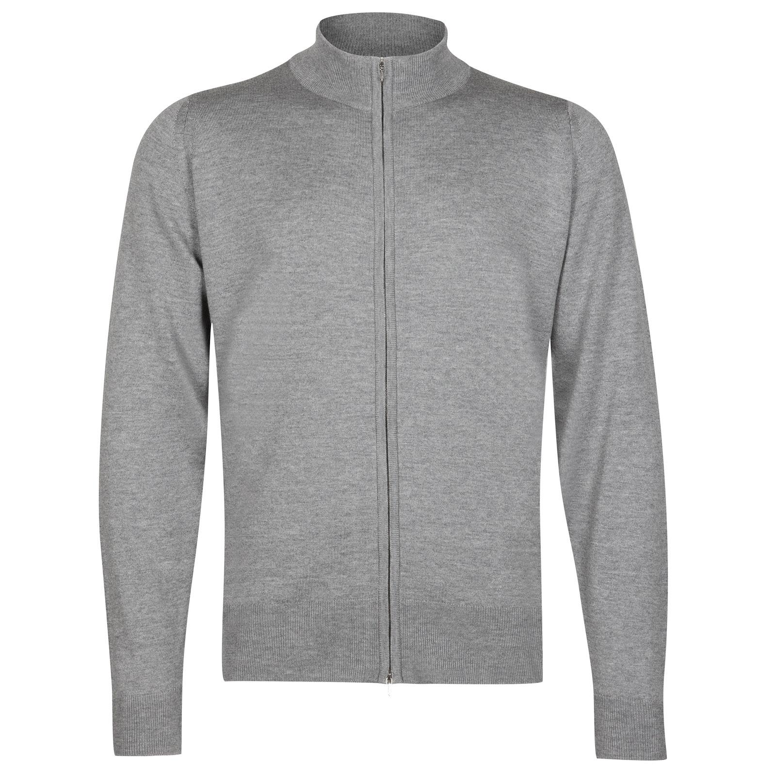 John Smedley claygate Merino Wool Jacket in Silver-M