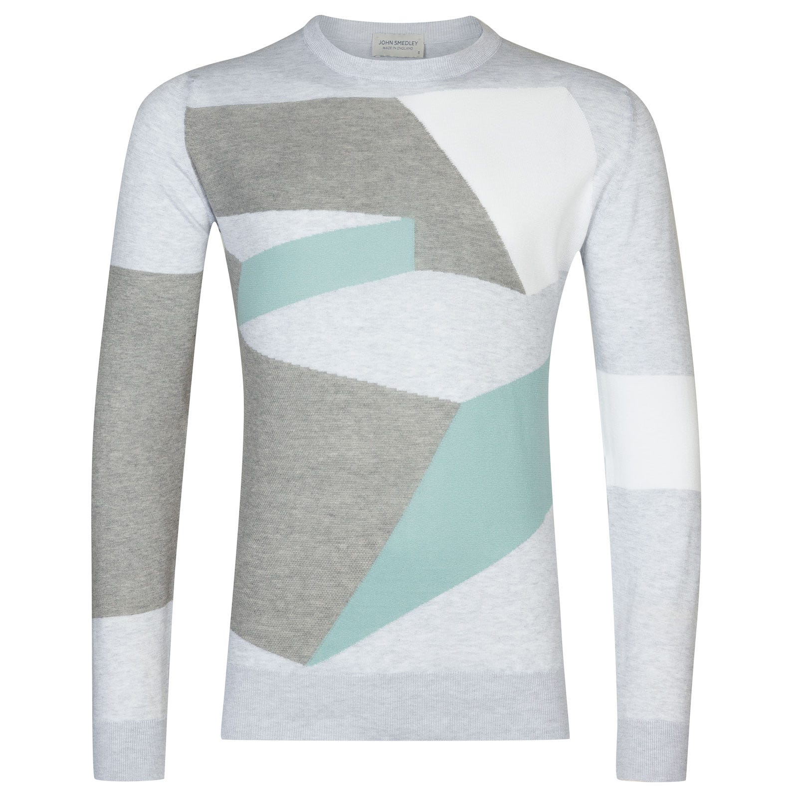 John Smedley Compose in Feather Grey-M