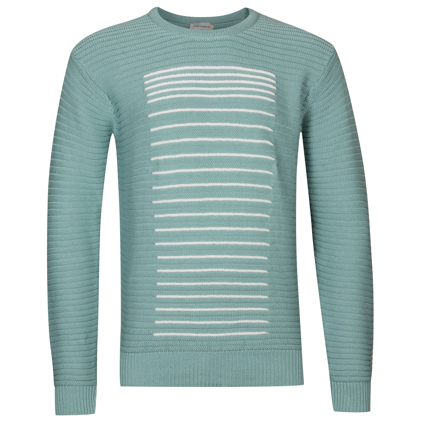 John Smedley Conder in Terrill Green/Snow White-Xxl