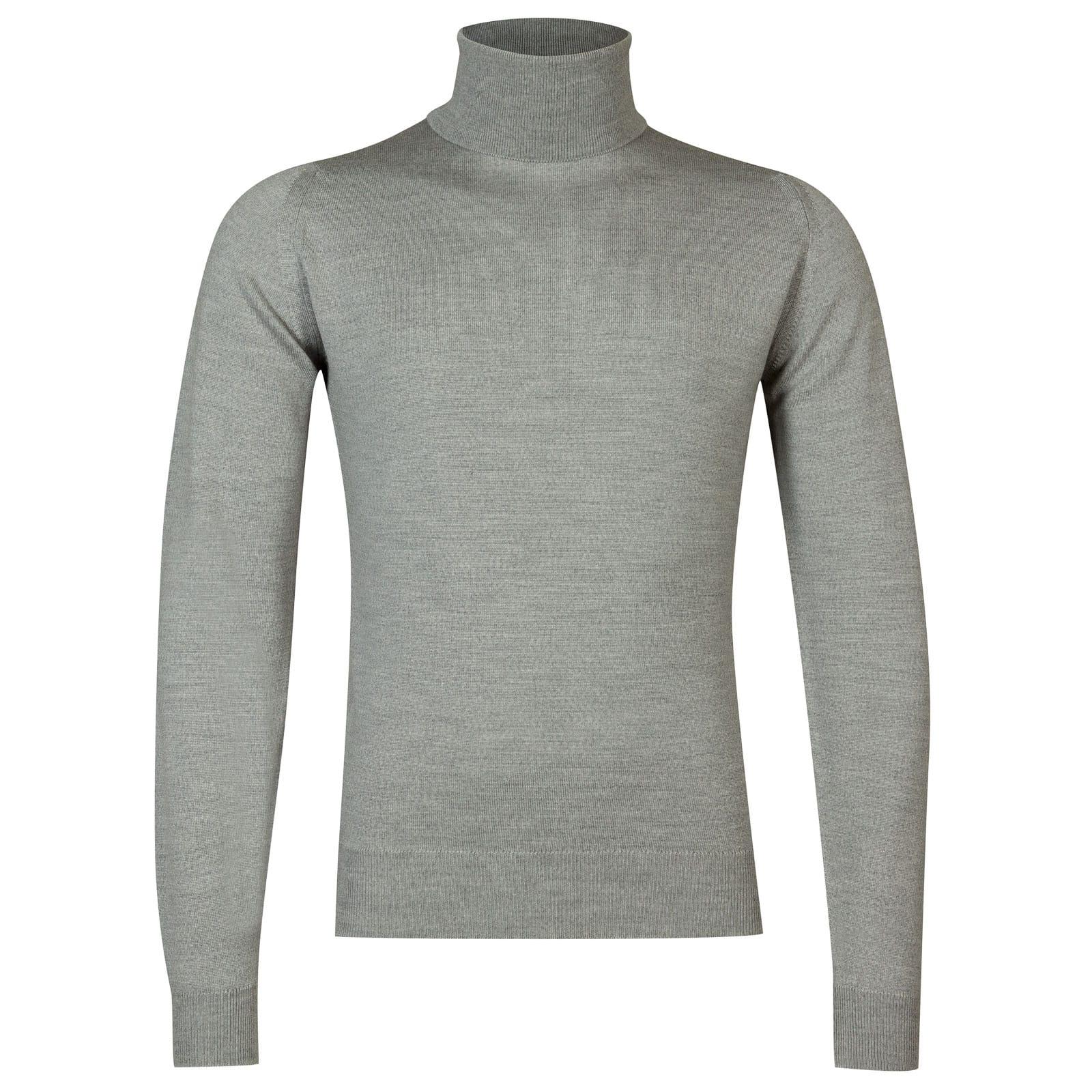 John Smedley connell Merino Wool Pullover in Bardot Grey-S