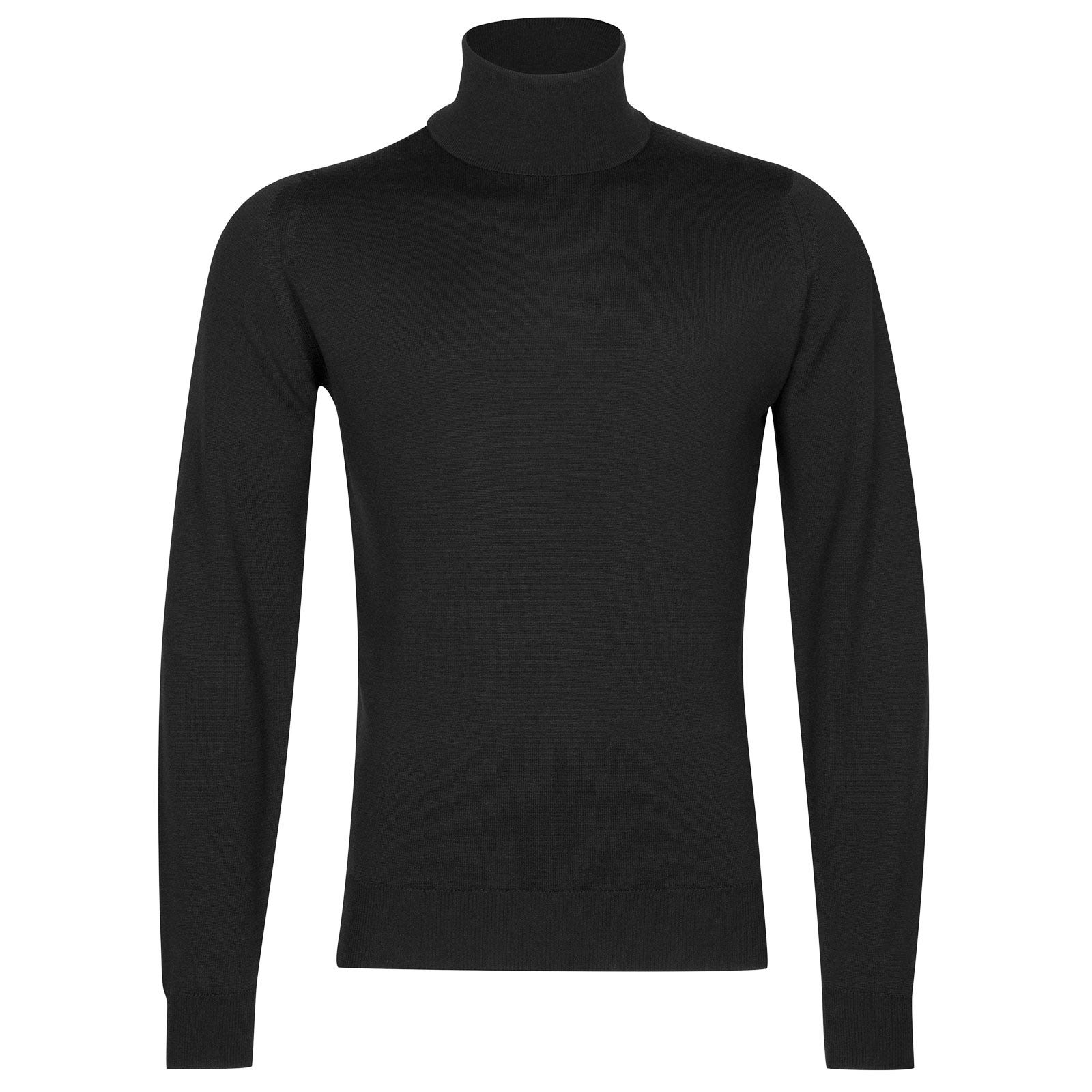 John Smedley Connell Merino Wool Pullover in Black-XL
