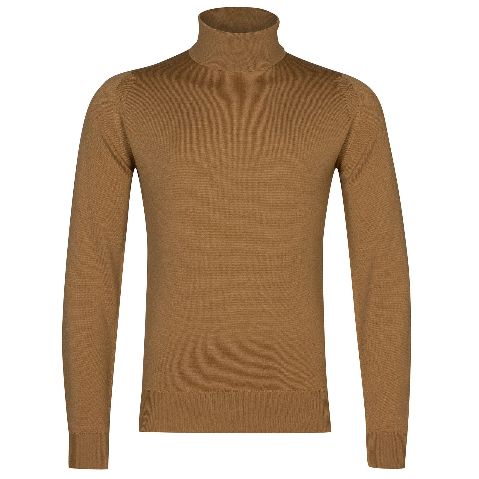 John Smedley Connell Merino Wool Pullover in Camel-S