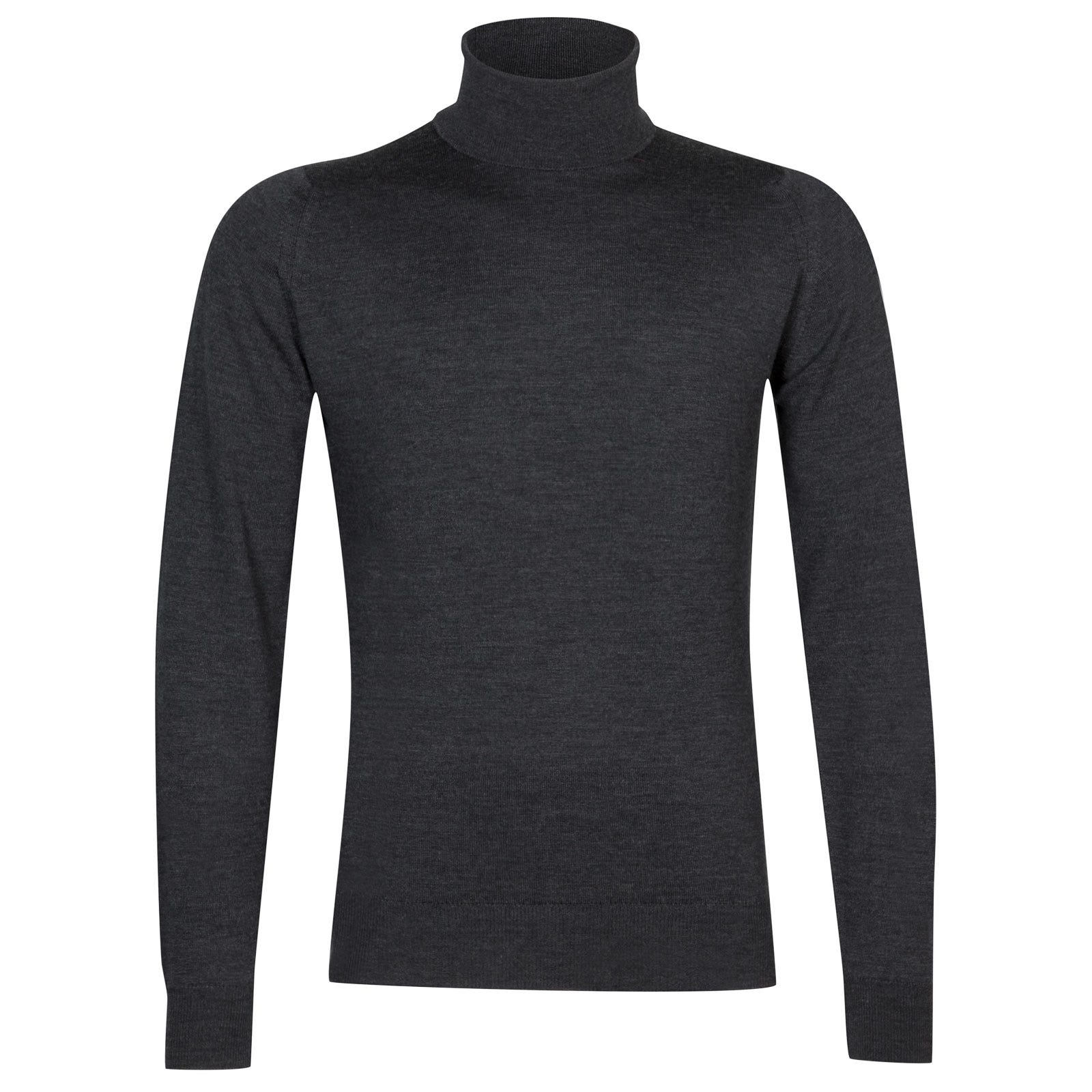 John Smedley Connell Merino Wool Pullover in Charcoal-M