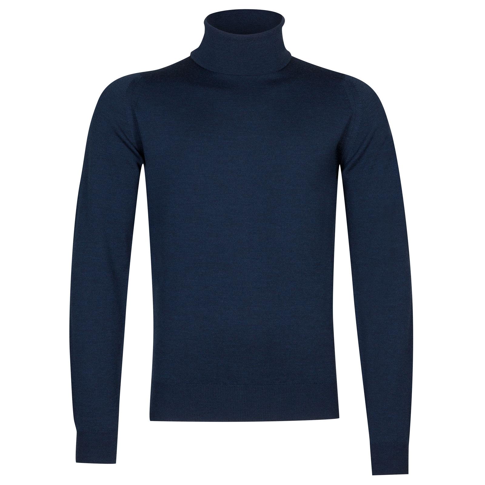 John Smedley Connell Merino Wool Pullover in Indigo-M