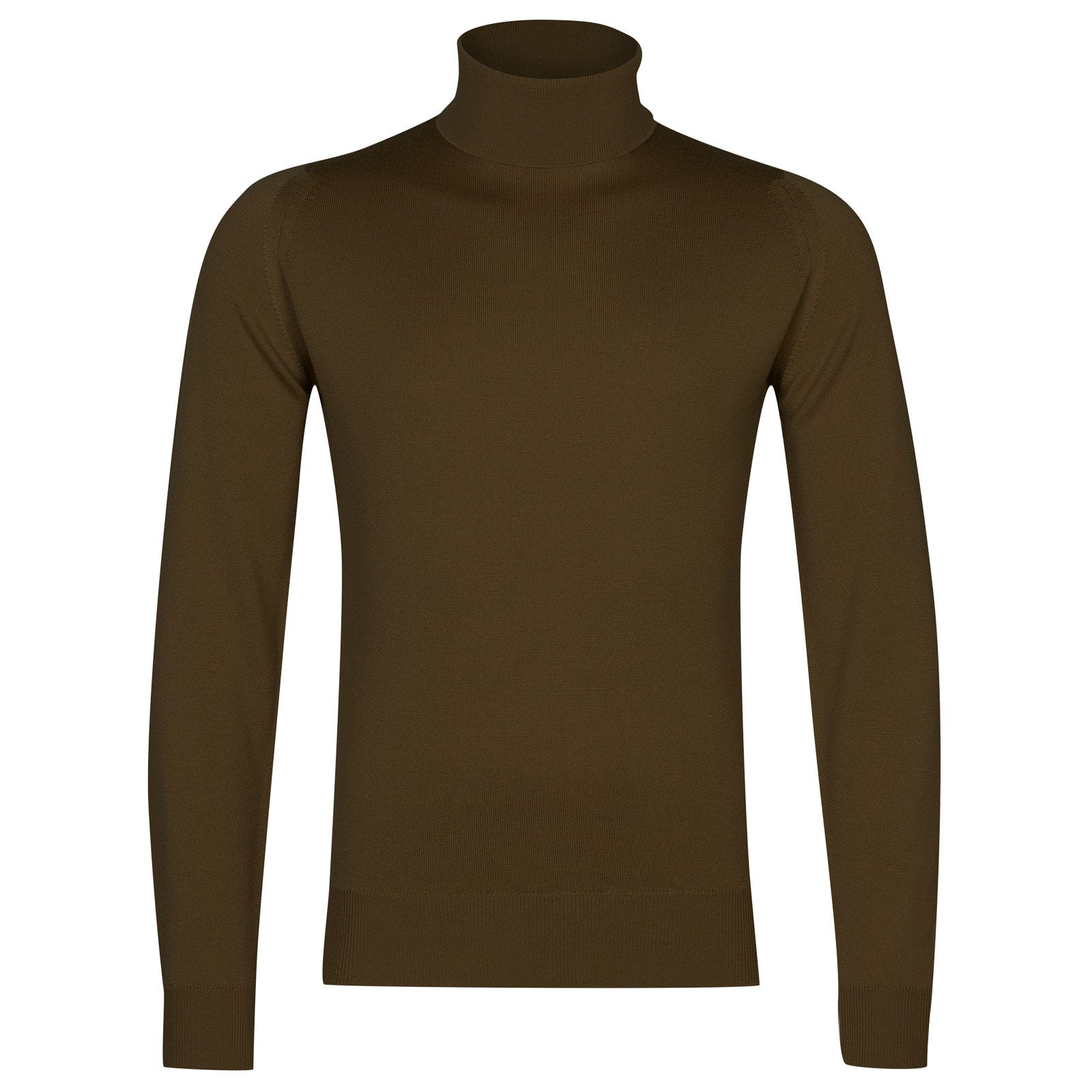 John Smedley connell Merino Wool Pullover in Kielder Green-XL