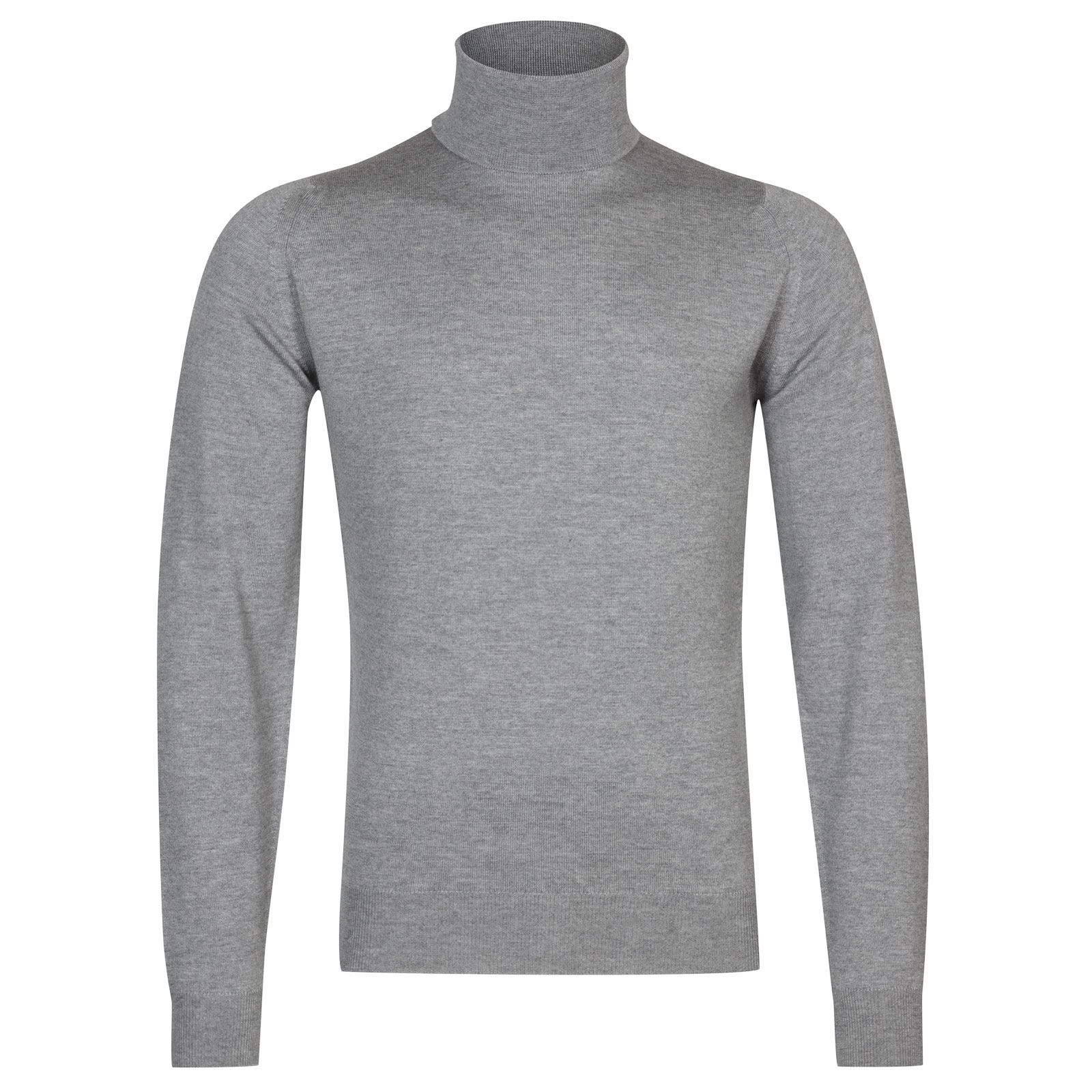 John Smedley connell Merino Wool Pullover in Silver-XL