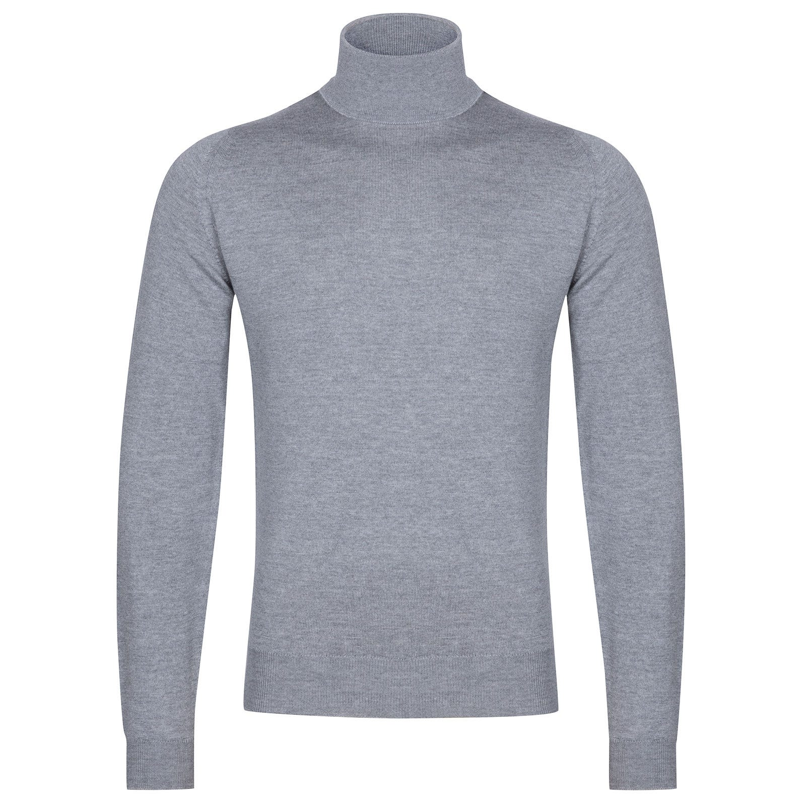 John Smedley Connell Merino Wool Pullover in Silver-S