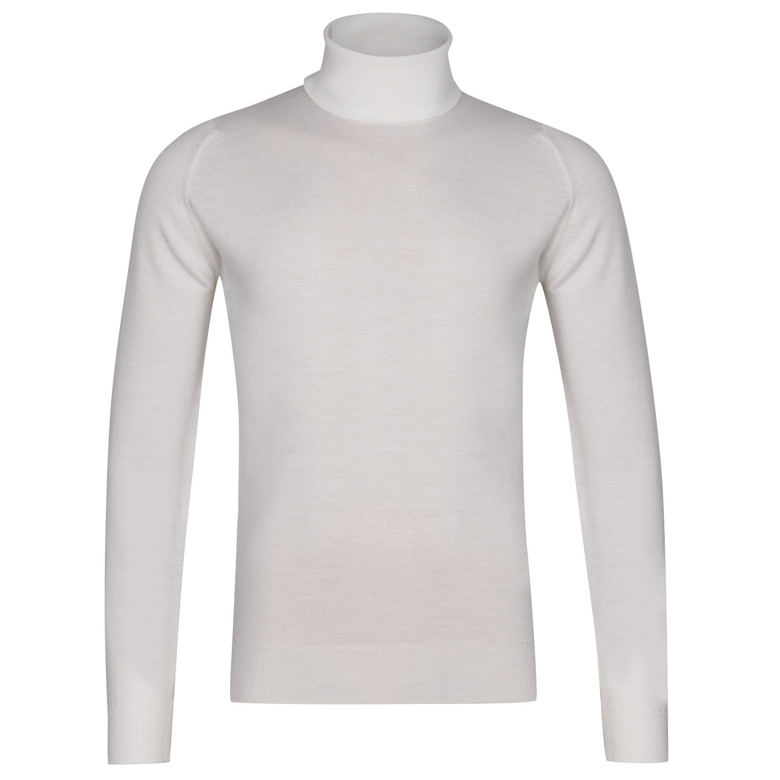 John Smedley Connell Merino Wool Pullover in Snow White-XL