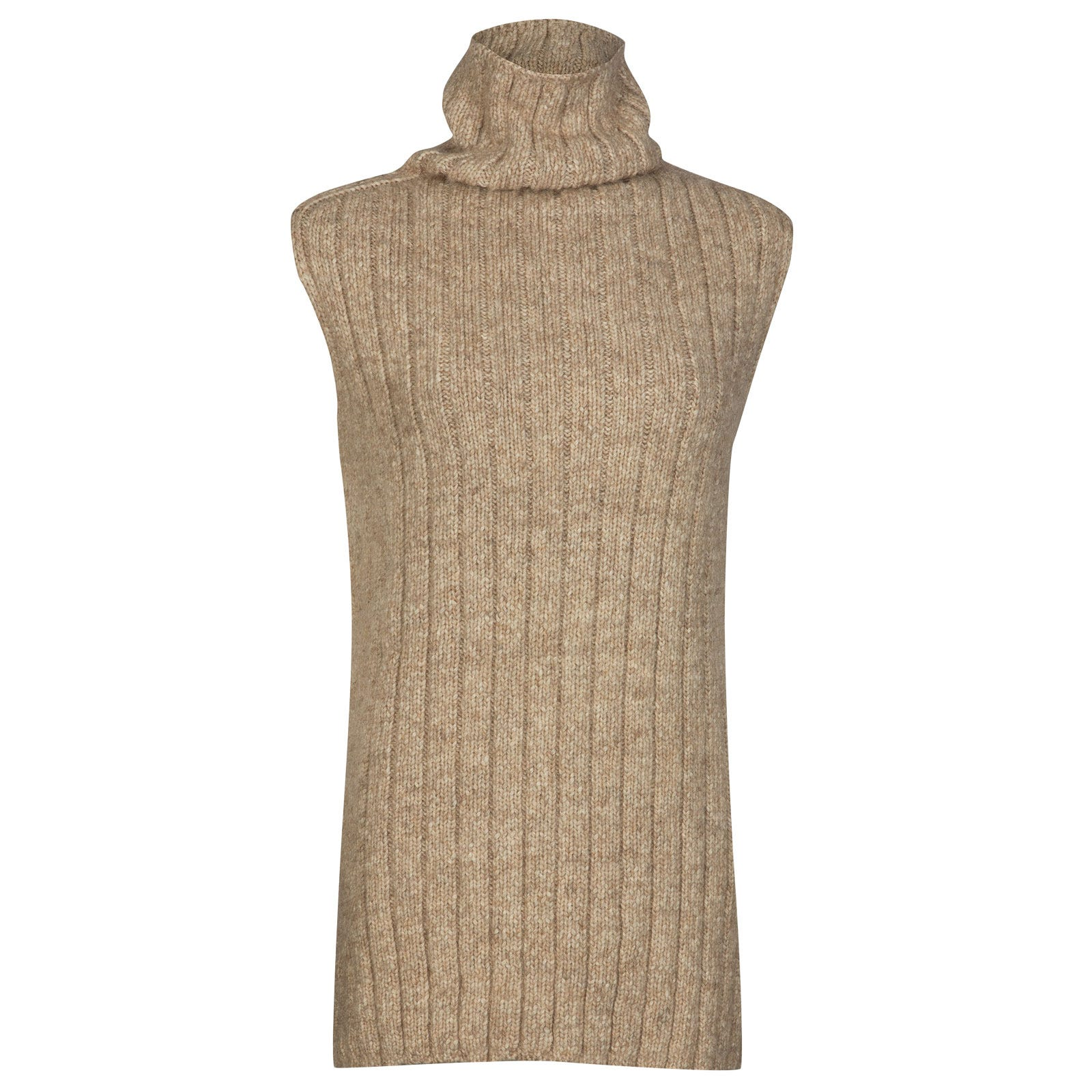 John Smedley conwy Alpaca, Wool & Cotton Sweater in Camel-S