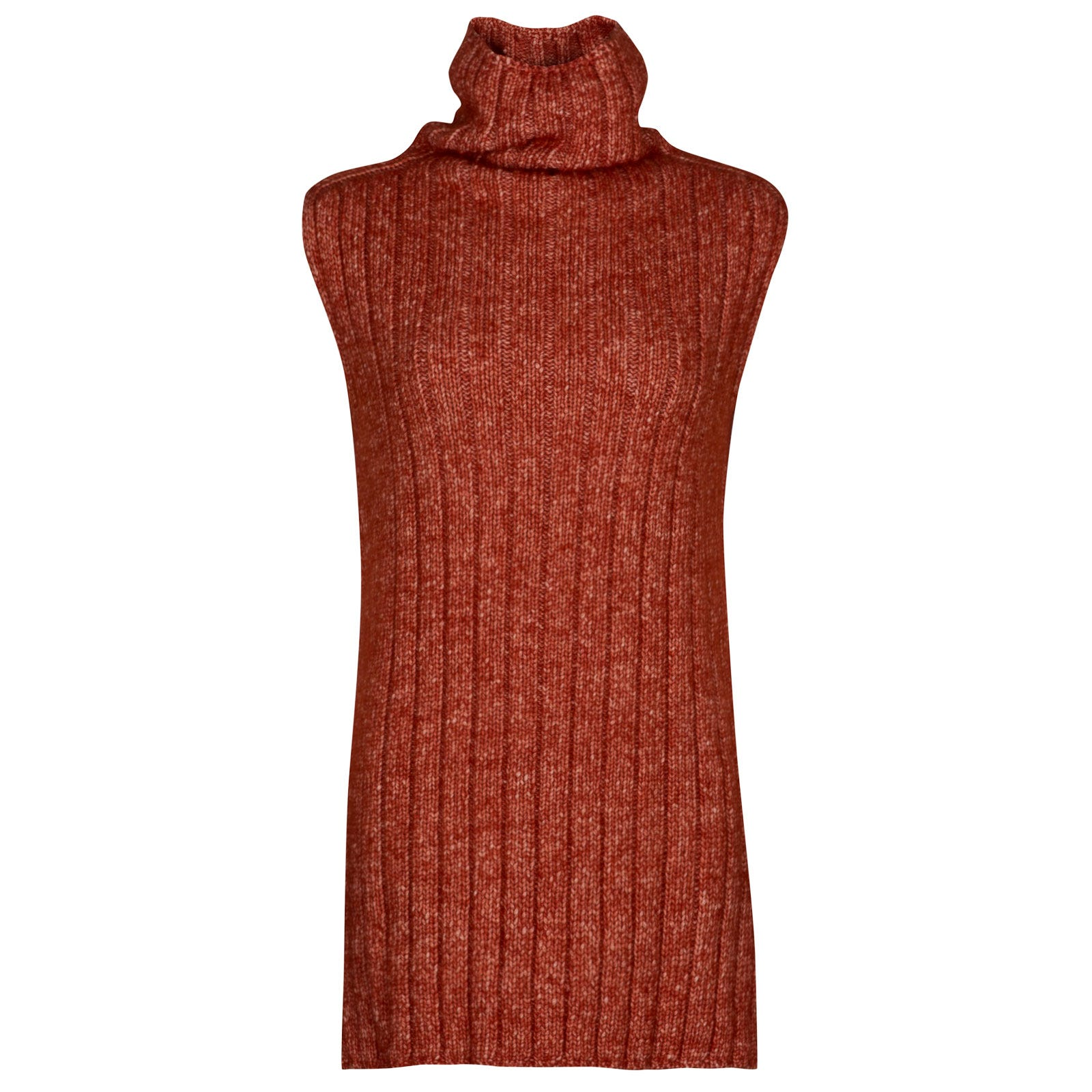 John Smedley conwy Alpaca, Wool & Cotton Sweater in Flare Orange-L