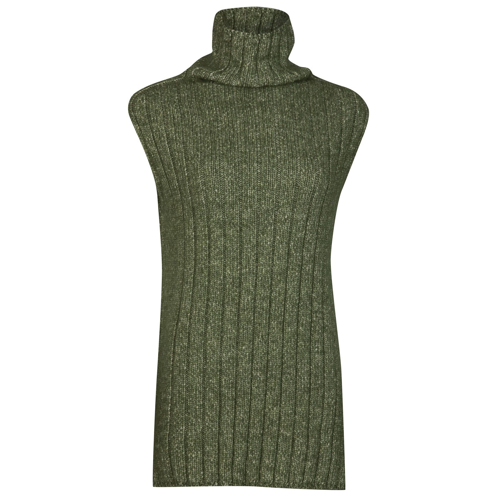John Smedley conwy Alpaca, Wool & Cotton Sweater in Kielder Green-S