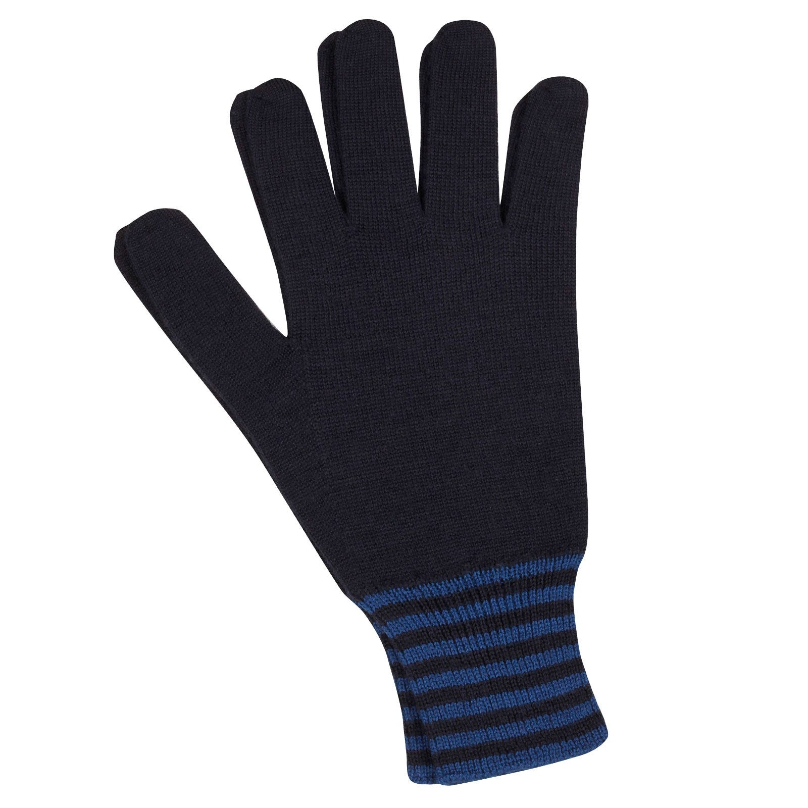 John Smedley Cooley Merino Wool Gloves in Midnight-s/m