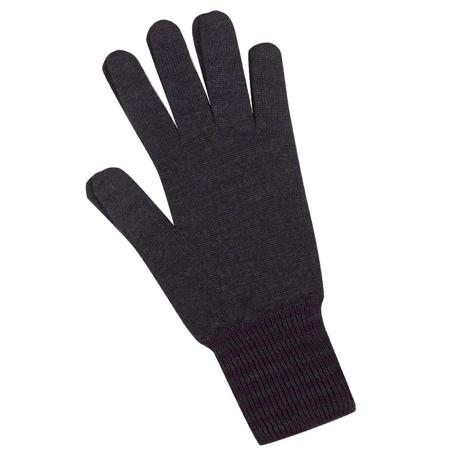 John Smedley Cooley Merino Wool Gloves in Hepburn Smoke-m/l