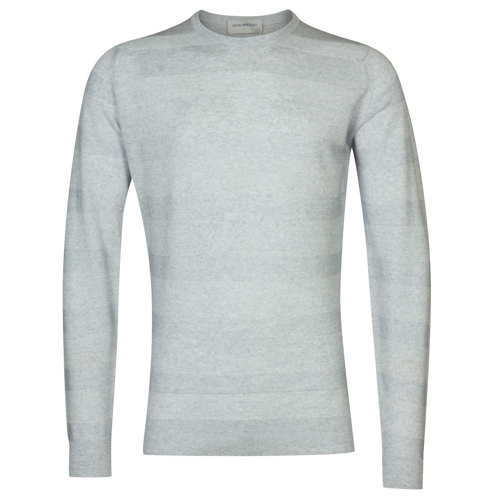 John Smedley coplow Merino Wool Pullover in Bardot Grey-XL