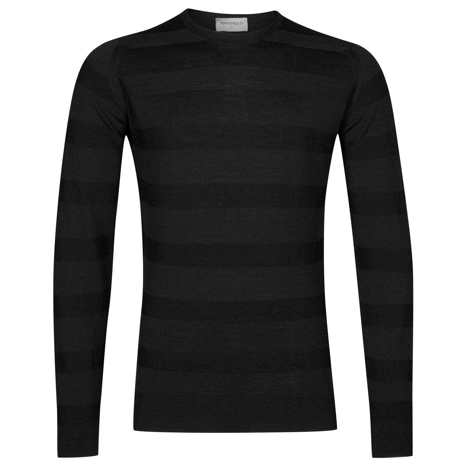 John Smedley coplow Merino Wool Pullover in Black-M