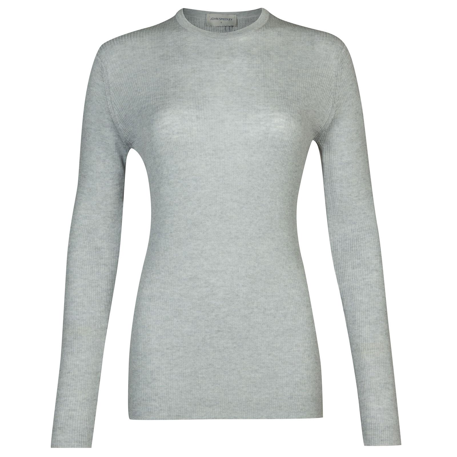 John Smedley corey Merino Wool Sweater in Bardot Grey-M