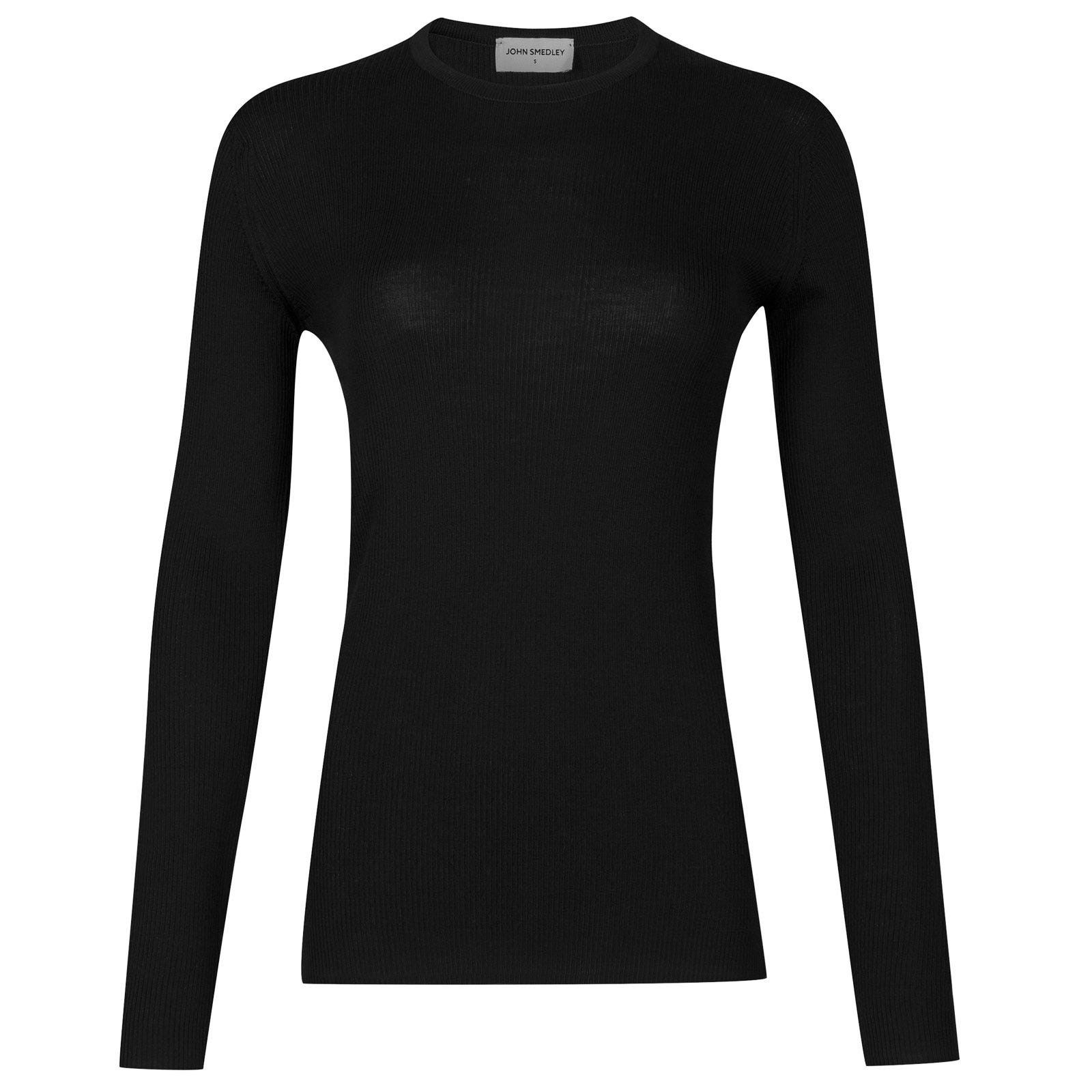 John Smedley corey Merino Wool Sweater in Black-XL
