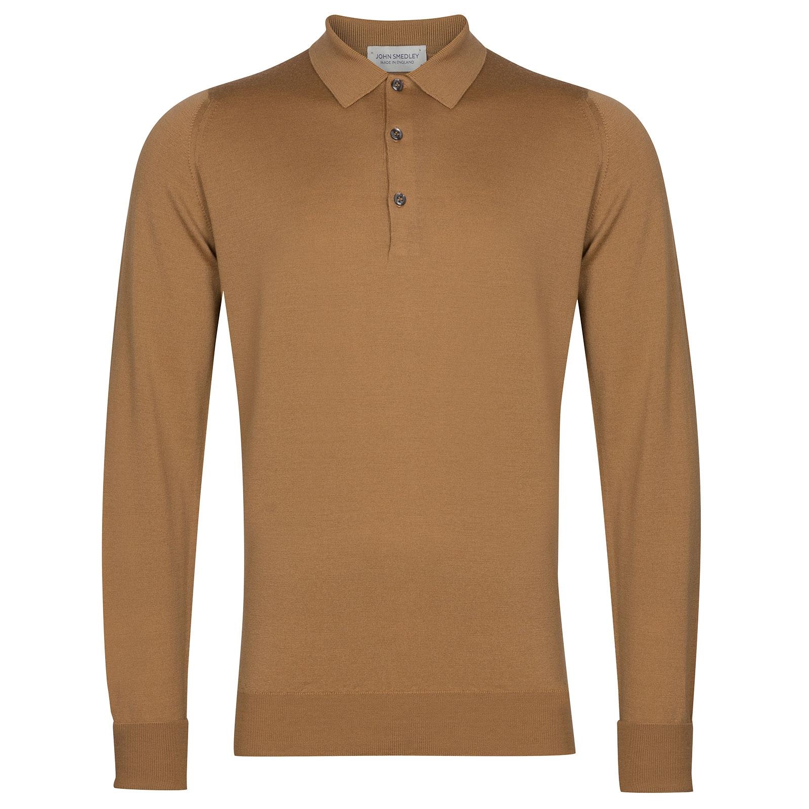 John Smedley Cotswold in Camel Shirt-xsm