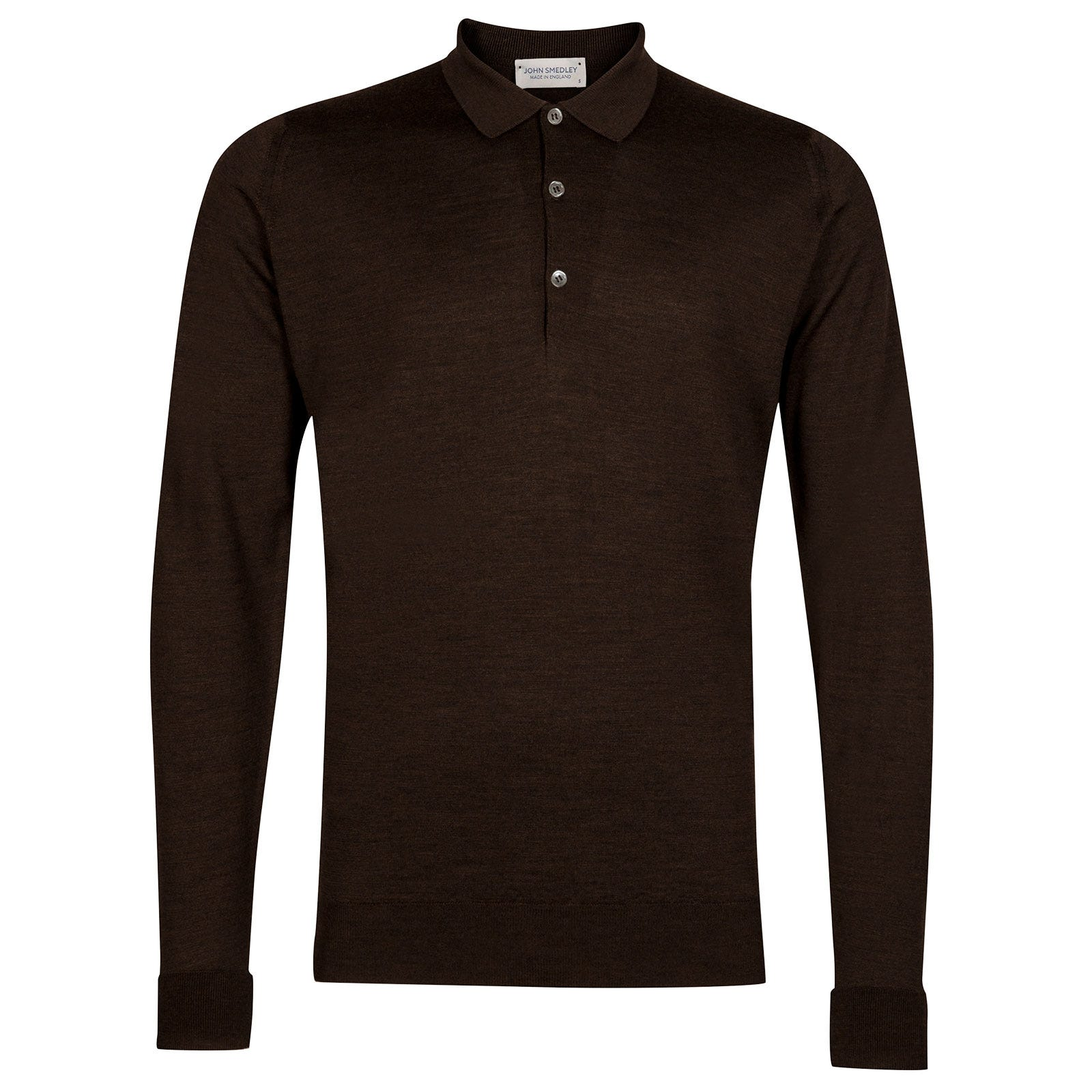 John Smedley Cotswold Merino Wool Shirt in Chestnut-S