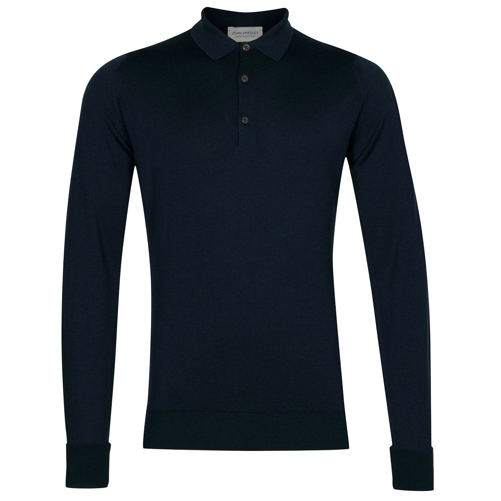 John Smedley Cotswold Merino Wool Shirt in Orion Green-L