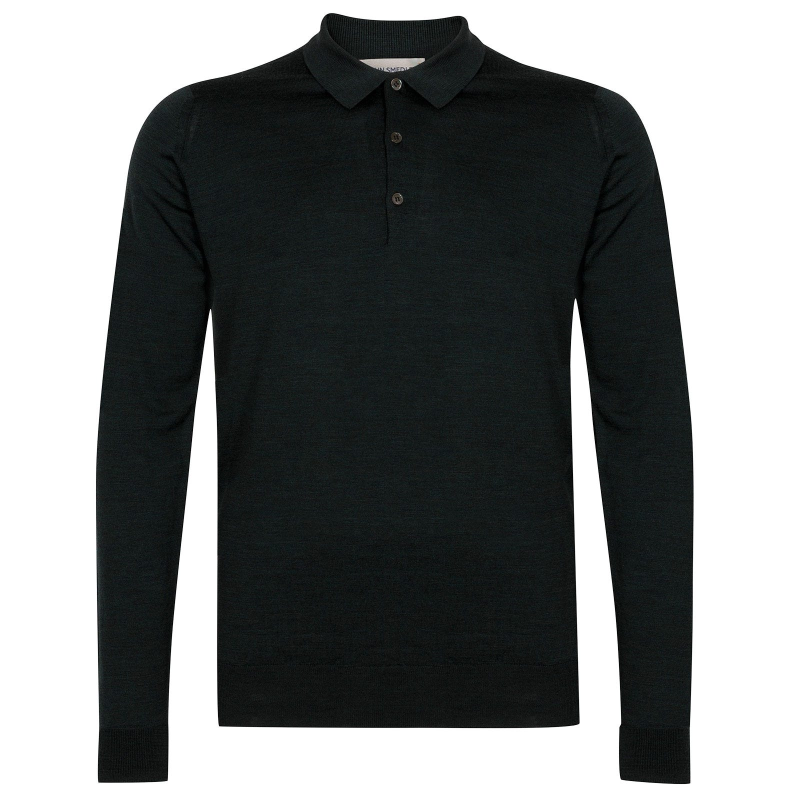 John Smedley Cotswold Merino Wool Shirt in Racing Green-S