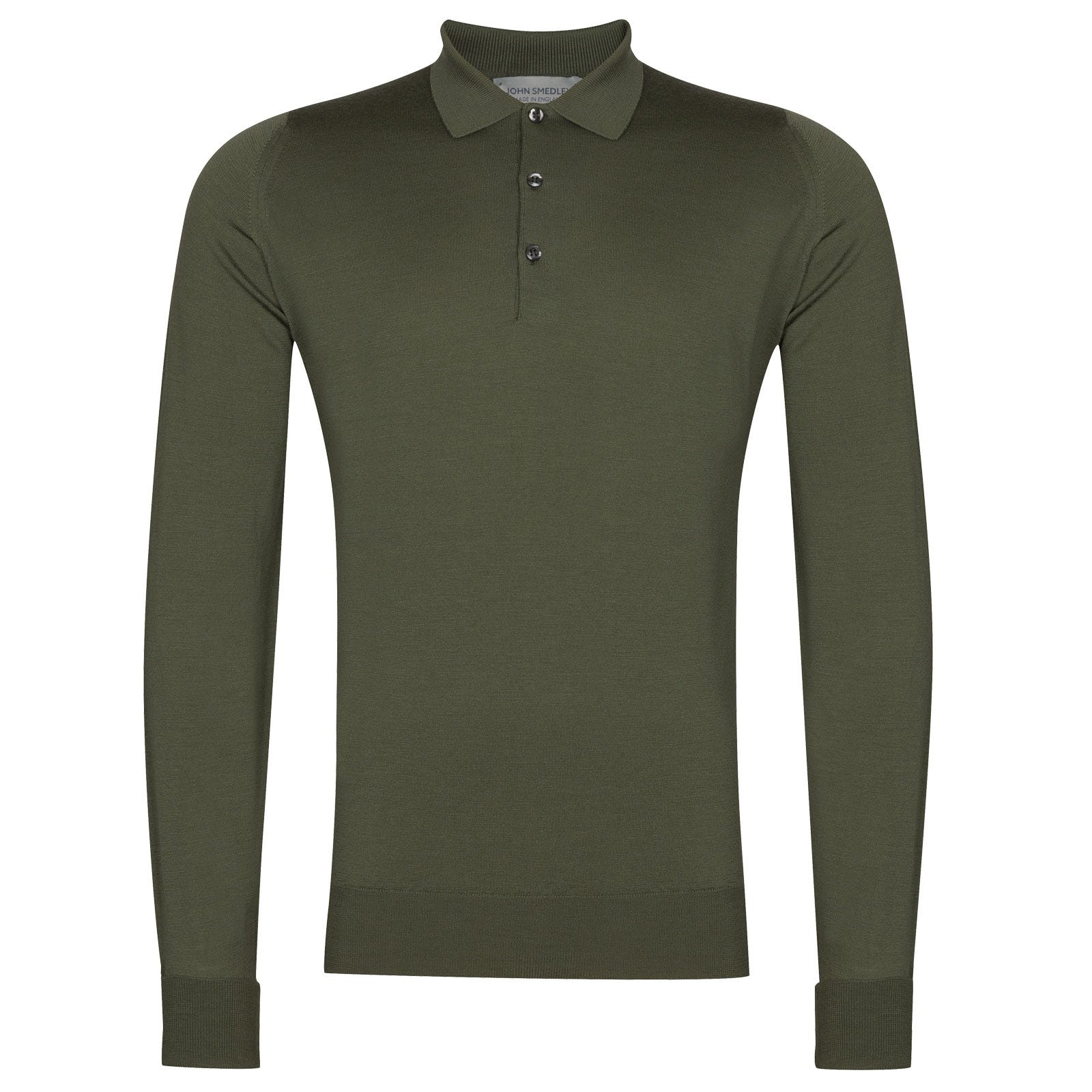 John Smedley Cotswold in Sepal Green Shirt-SML