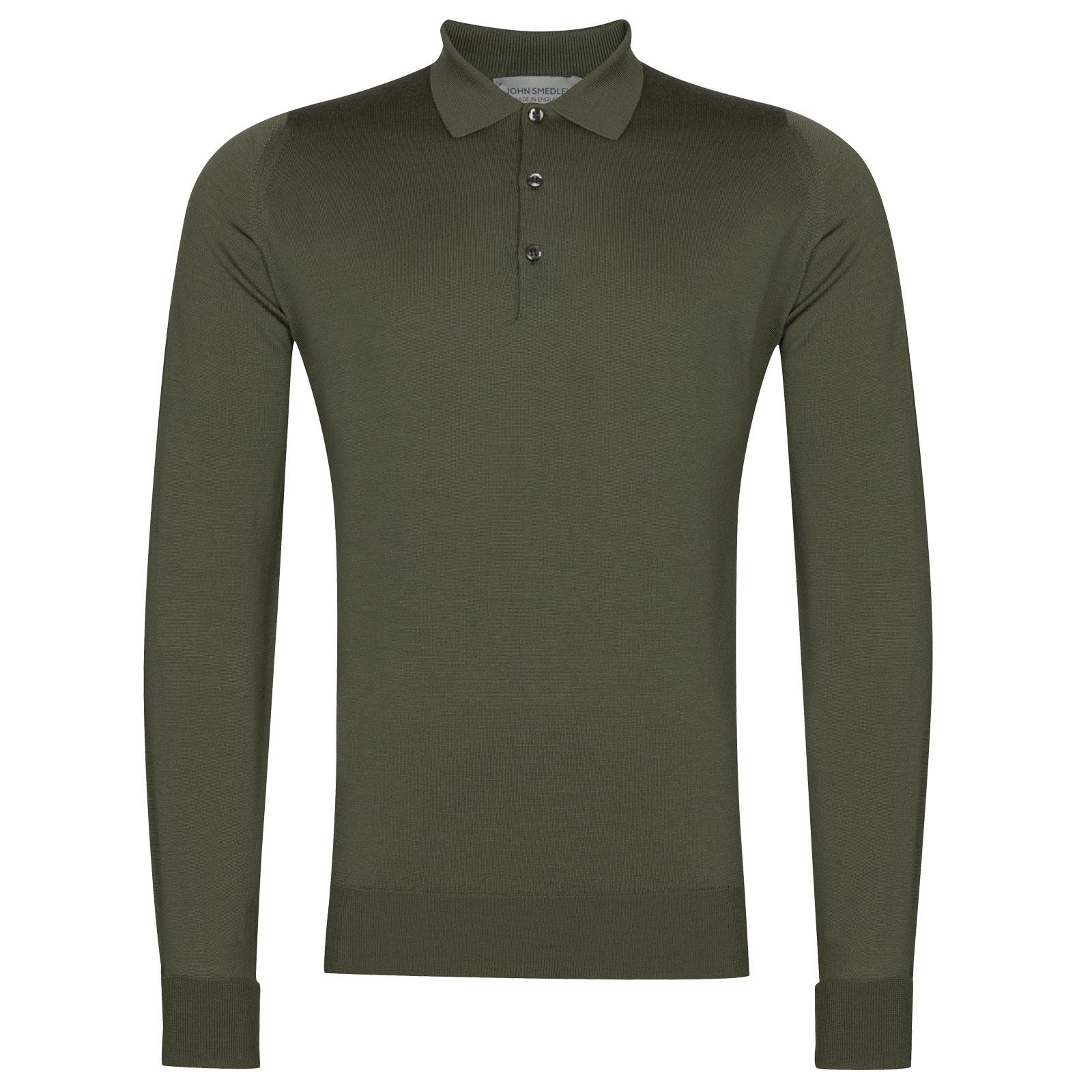 John Smedley Cotswold in Sepal Green Shirt-LGE