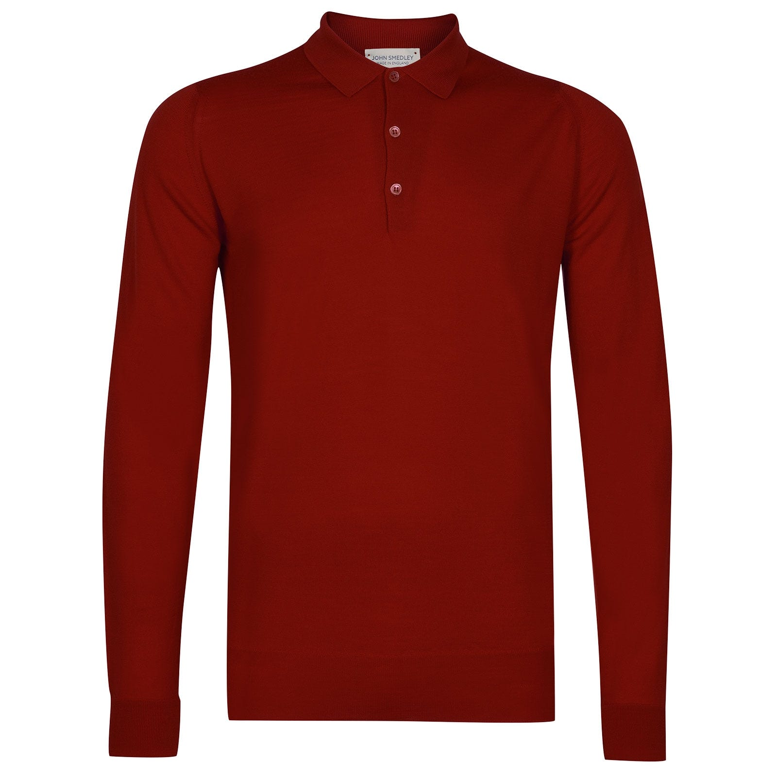 John Smedley Cotswold Merino Wool Shirt in Thermal Red-S