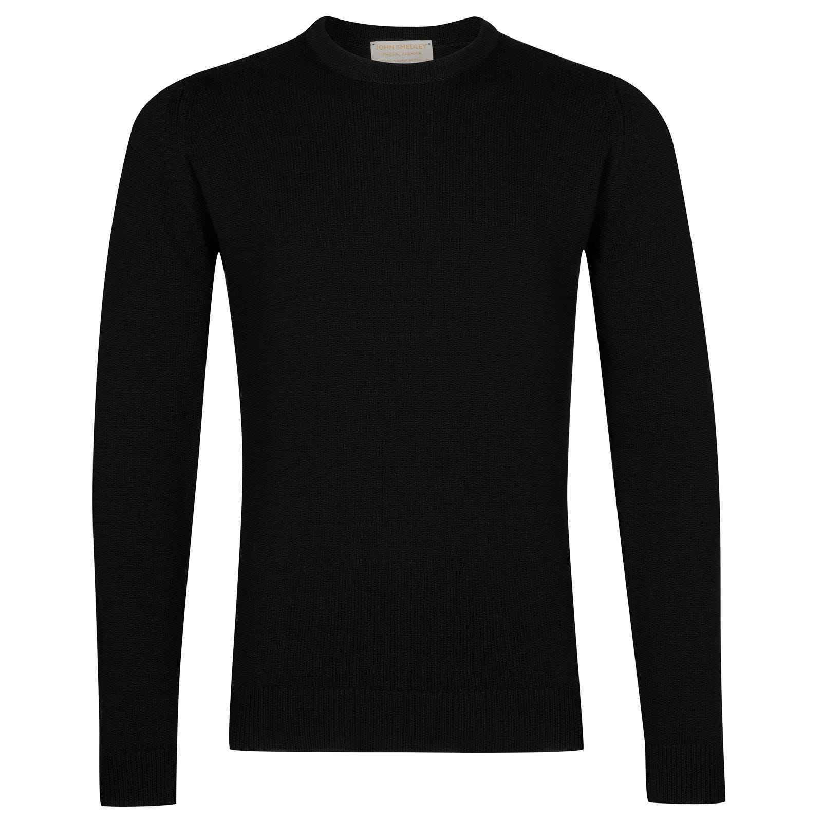 John Smedley Crowford Wool and Cashmere Pullover in Black-XL