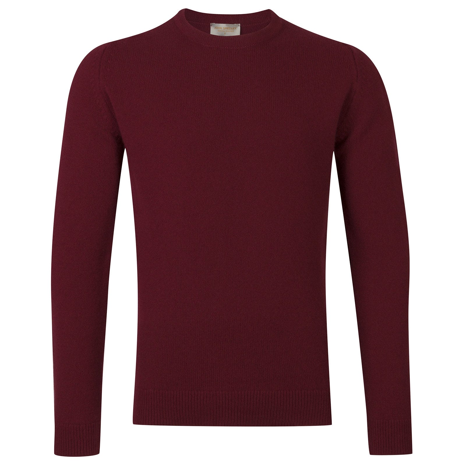 John Smedley Crowford Wool and Cashmere Pullover in Bordeaux-XXL