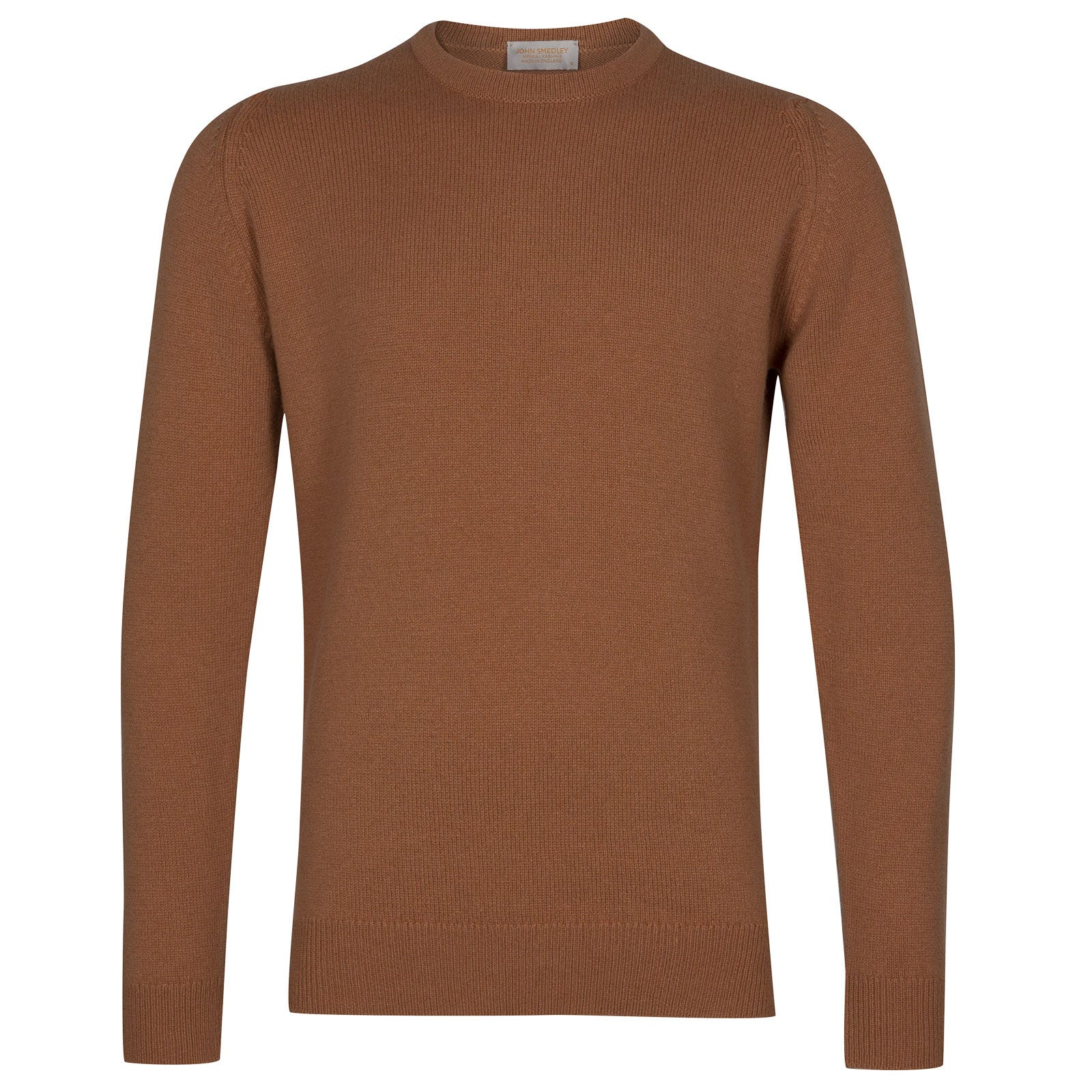 John Smedley Crowford Wool and Cashmere Pullover in Camel-XL