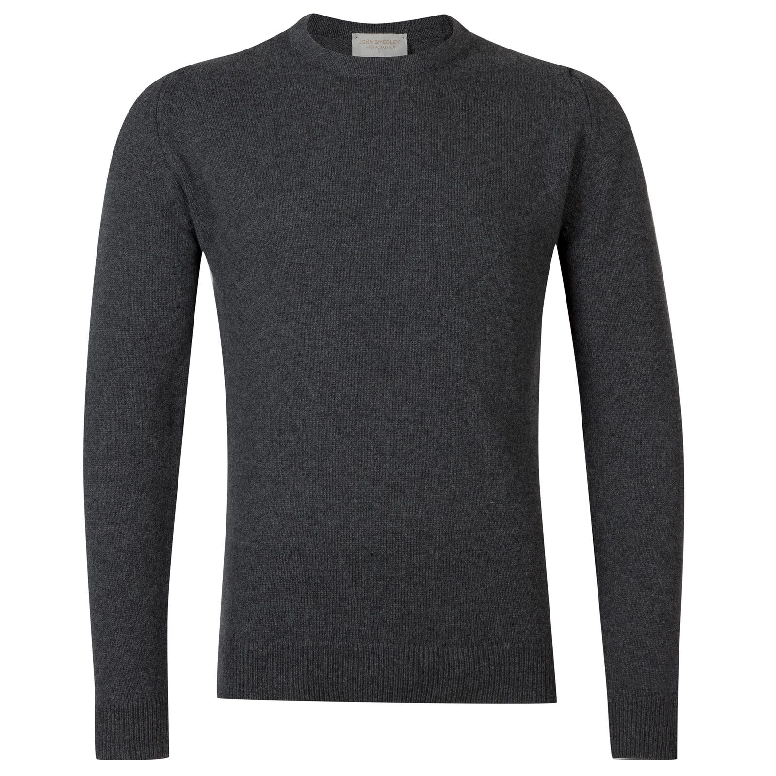 John Smedley Crowford Wool and Cashmere Pullover in Charcoal-XXL