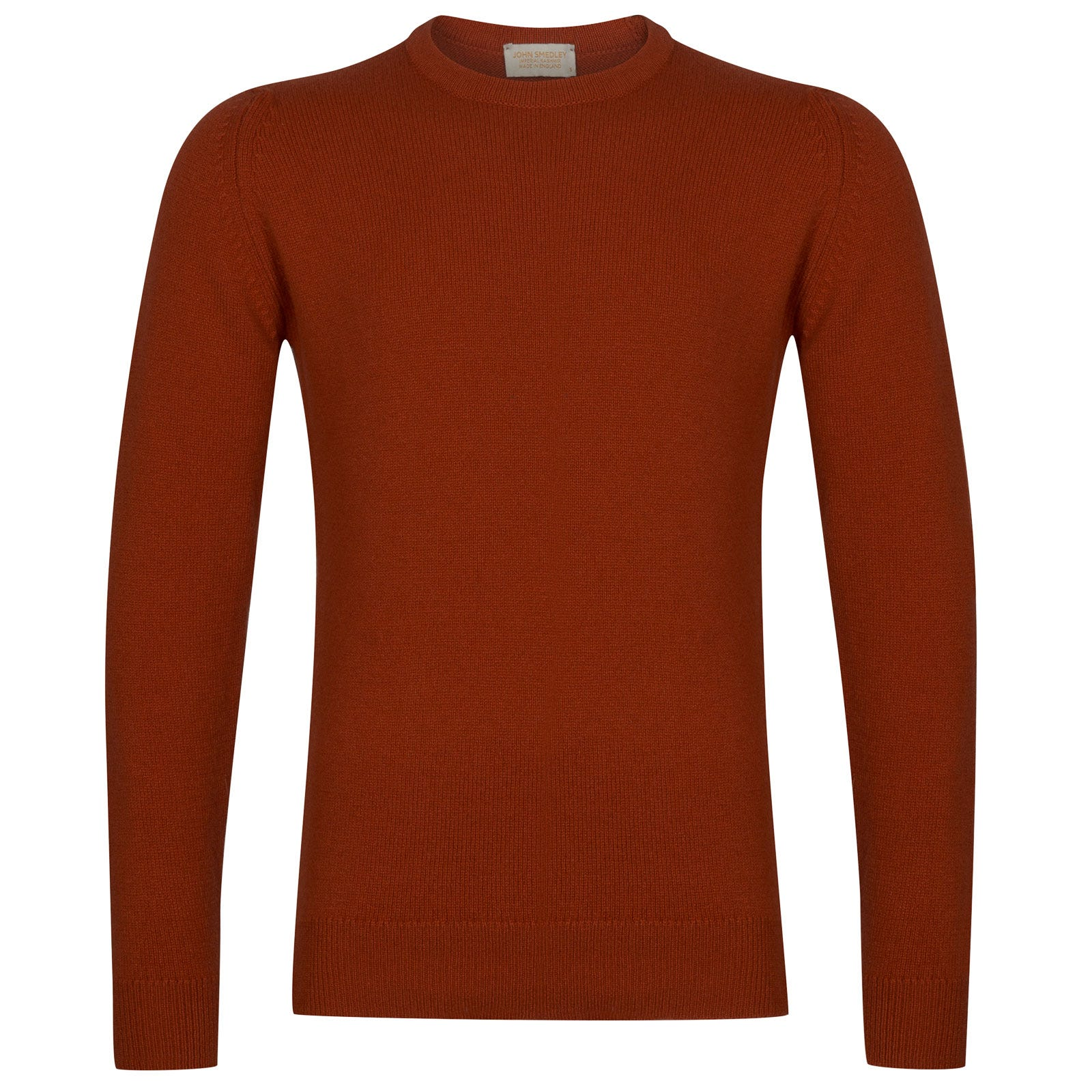 John Smedley Crowford Wool and Cashmere Pullover in Flare Orange-XL