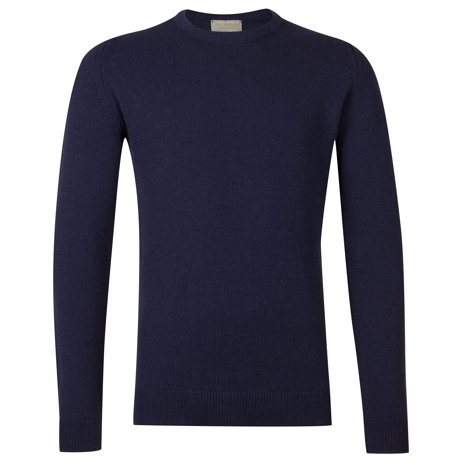 John Smedley Crowford Wool and Cashmere Pullover in Indigo-XL