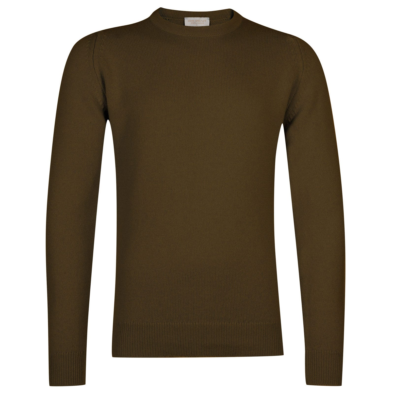 John Smedley Crowford Wool and Cashmere Pullover in Kielder Green-S