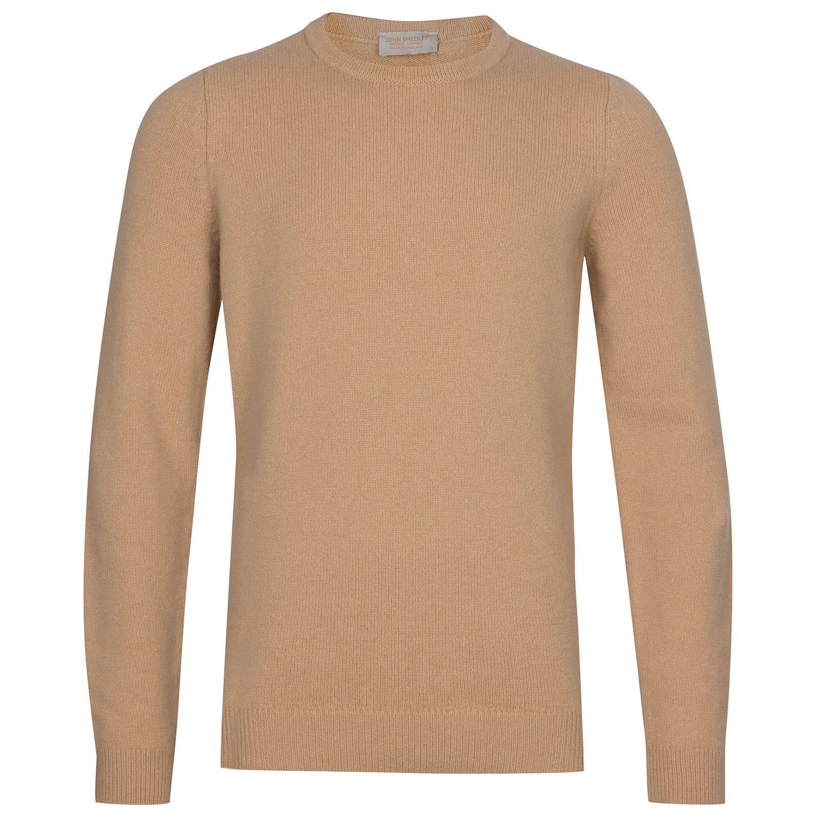 John Smedley Crowford Wool and Cashmere Pullover in Light Camel-XXL