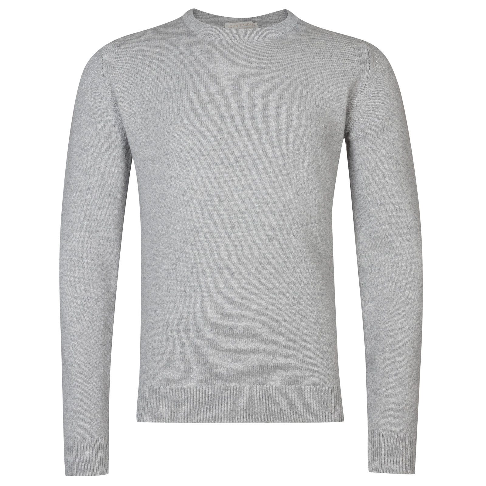 John Smedley Crowford Wool and Cashmere Pullover in Silver-XL