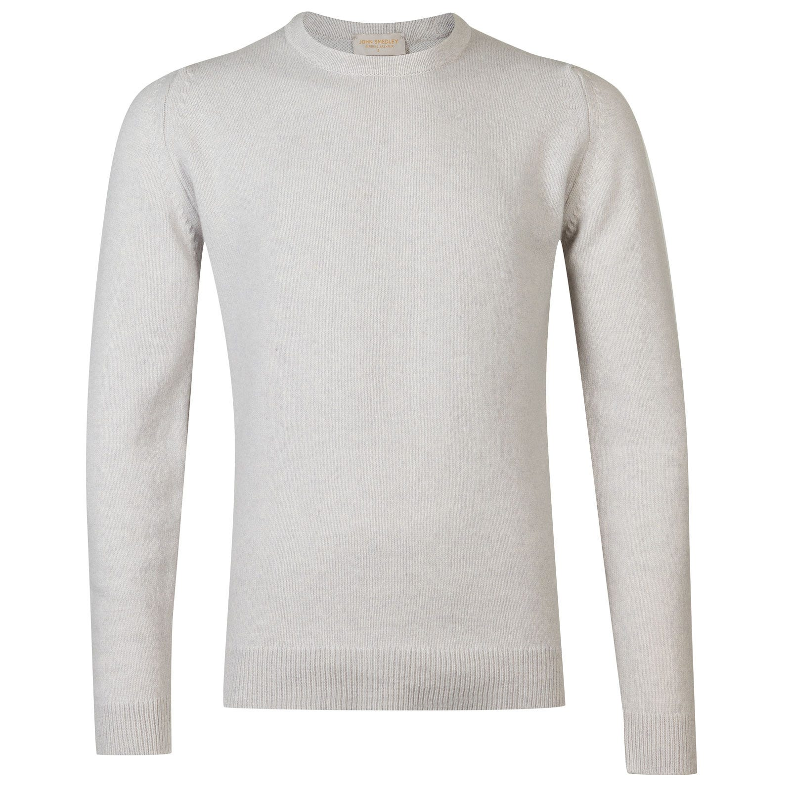 John Smedley Crowford Wool and Cashmere Pullover in Soft Grey-XXL