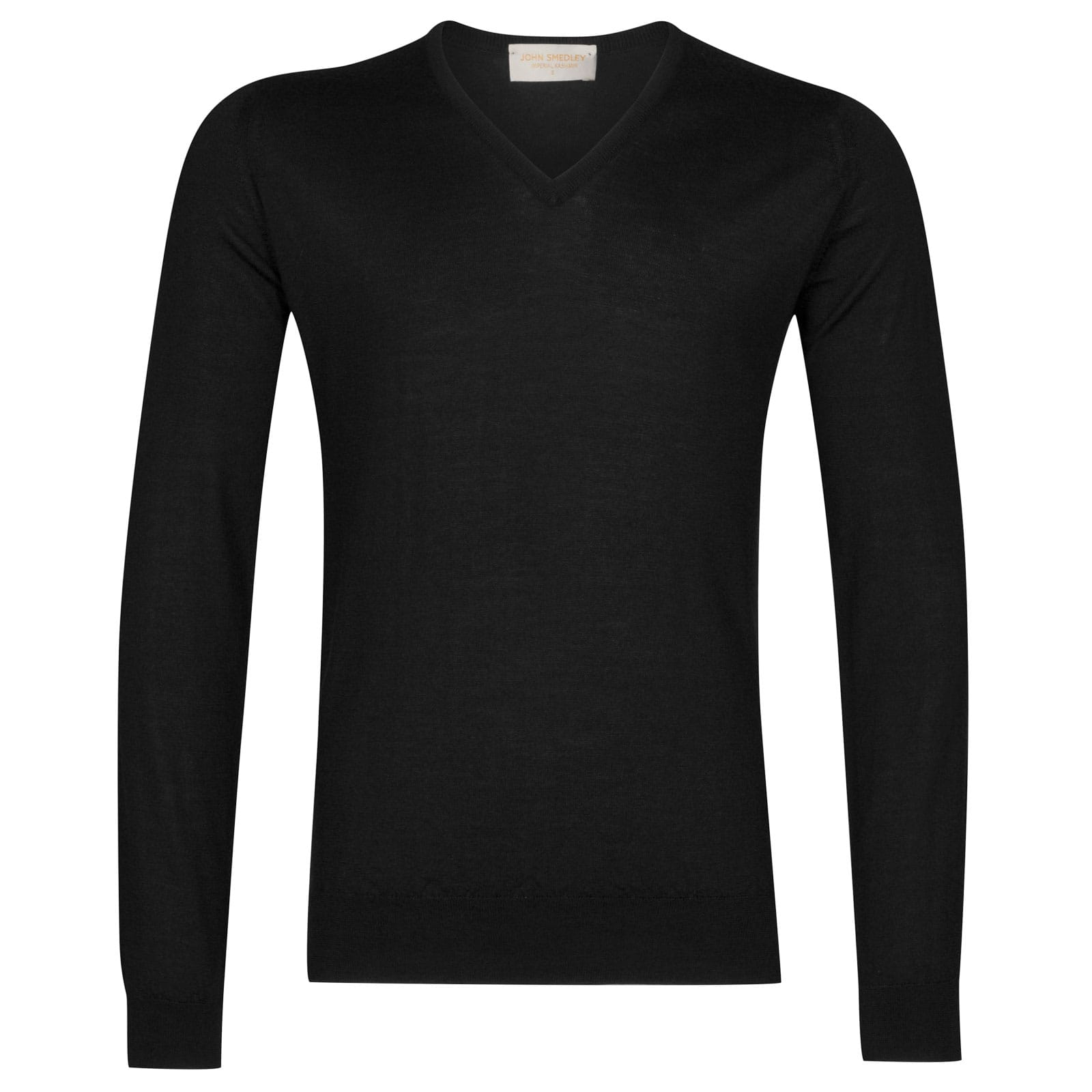 John Smedley Curlwell Cashmere and Silk Pullover in Black-XL