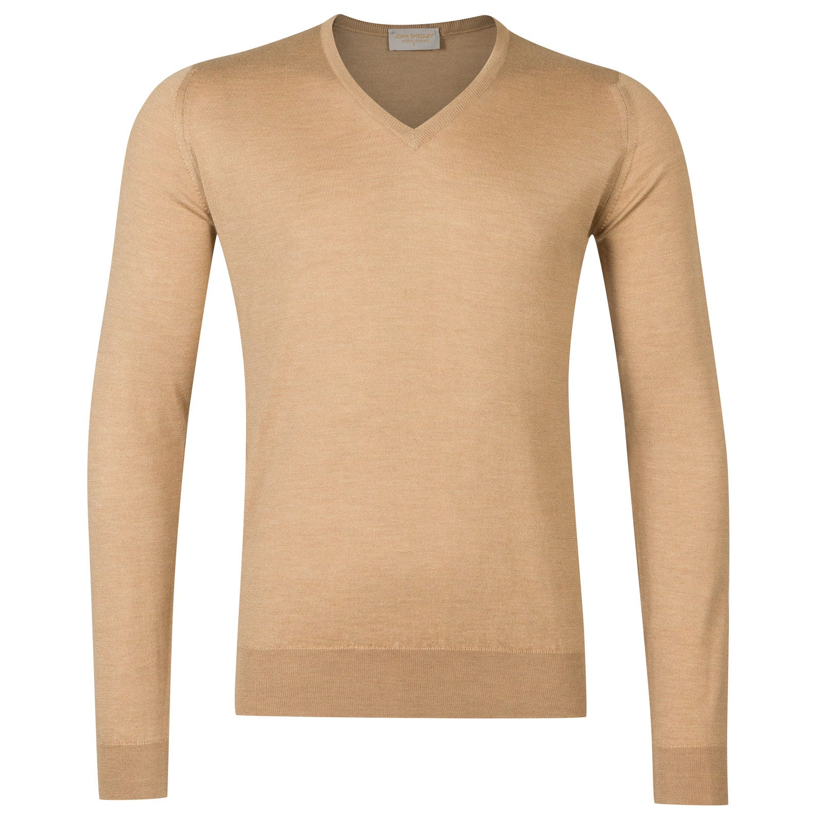 John Smedley Curlwell Cashmere and Silk Pullover in Camel-L
