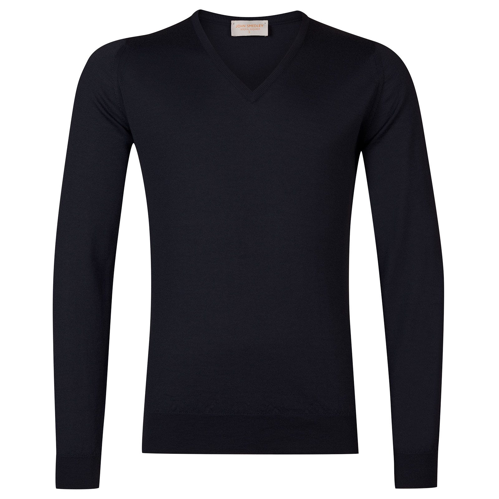 John Smedley Curlwell Cashmere and Silk Pullover in Navy-XL