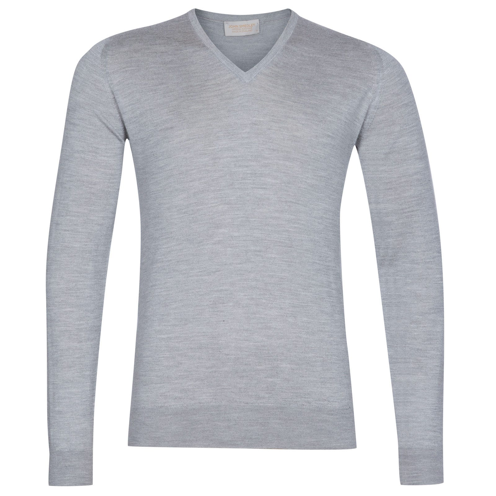 John Smedley Curlwell Cashmere and Silk Pullover in Silver-S