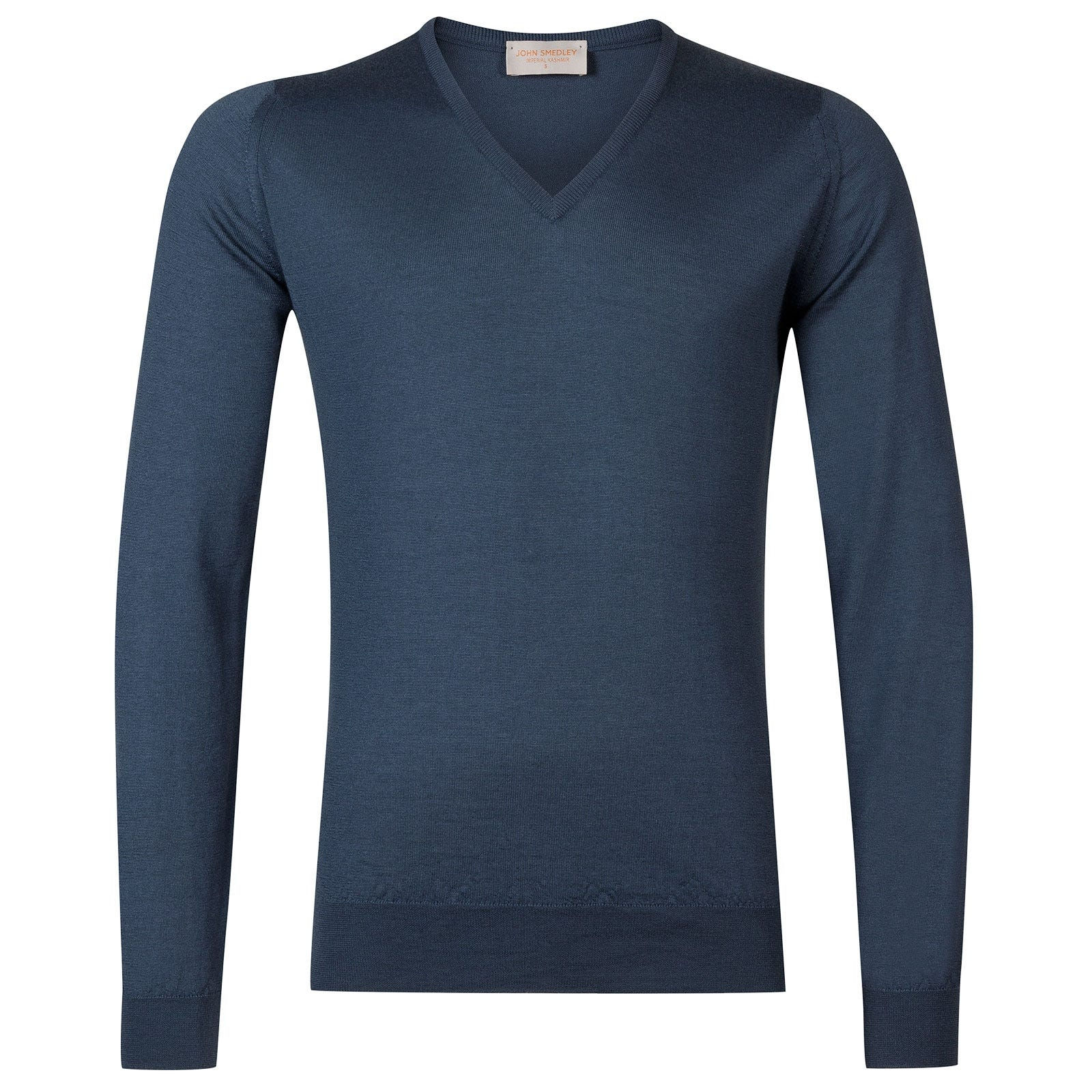 John Smedley Curlwell Cashmere and Silk Pullover in Teal-S